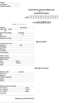 Poze Buletin de analize medicale - examen de urina A6