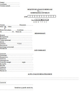 Poze Buletin de analize medicale - morfologia sangelui A6