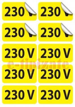 Poze Etichete prize 230V - pe suport A4