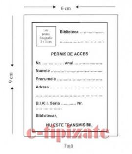 Poze Permis acces biblioteca