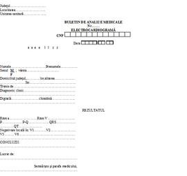 Poze Buletin de analize medicale - electrocardiograma A6