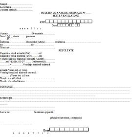 Poze Buletin de analize medicale - teste ventilatorii A6