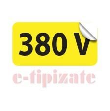 Poze Etichete prize 380V - set 10 buc autoadezive