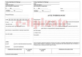 Aviz psihologic - siguranta transporturilor A4, autocopiativ -3 exemplare