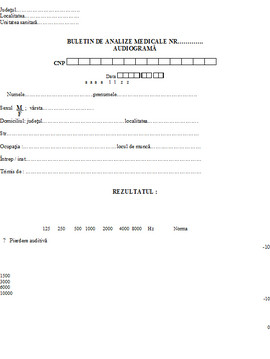 Poze Buletin de analize medicale - audiograma A6
