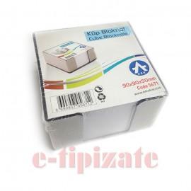 Cub hartie cu suport plastic 90x90x50 mm