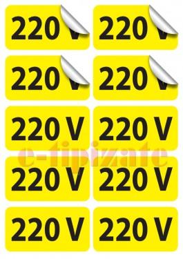 Poze Etichete prize 220V - pe suport A4