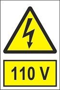 """Poze Indicator """"110 V"""" A4"""