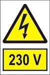 """Poze Indicator """"230 V"""" A4"""