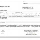 Aviz medical cabinet psihologic A4