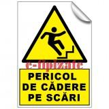 Pericol de cadere pe scari