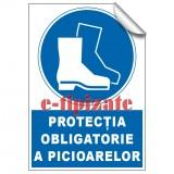 Protecția obligatorie a picioarelor