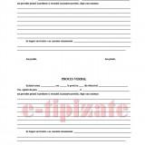 Registru Procese Verbale Predare-Primire Serviciu - 100 file