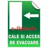 Cale si acces de evacuare - Stanga