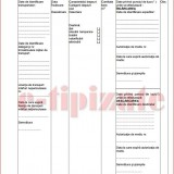 Formular de incarcare - descarcare deseuri nepericuloase A4