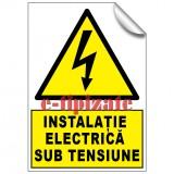 Instalație electrica sub tensiune