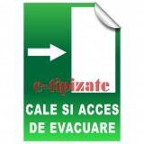 Cale si acces de evacuare - Dreapta