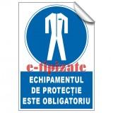 Echipamentul de protecție este obligatoriu