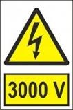 """Indicator """"3000 V"""" A5"""