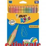 Creioane colorate BIC 18 buc