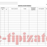 REGISTRU DE BANI PERSONALI -  50 file, 100 pagini