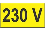 Indicator 230 V - 1 set de 10 etichete prize autoadezive  550 x950