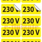 Etichete prize 230V - pe suport A4