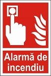 """Indicator """"Alarma de incendiu"""" - model 1  A4"""