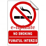 No smoking / Fumatul interzis