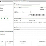 Aviz psihologic A4 autocopiativ -3 exemplare