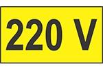 Indicator 220 V  - 1 set de 10 etichete prize autoadezive  550 x 950