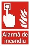 """Indicator """"Alarma de incendiu"""" - model 1  A5"""