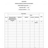 Registru pentru evidenta fondului de rulment
