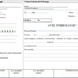 Aviz psihologic A5 autocopiativ -3 exemplare