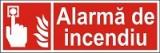 """Indicator """"Alarma de incendiu"""" - model 2  A4"""