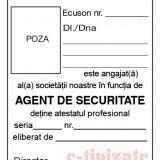PACHET PROMOTIONAL - Ecuson agent de securitate complet (cu port ecuson si clips)