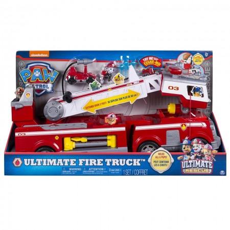 Set Camion de pompieri Paw Patrol si Marshall, Ultimate Fire Truck