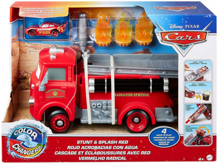 Set de joaca Masina de pompieri Piro cu masinuta culori schimbatoare