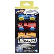 Set 3 masinute de spuma Nerf Nitro