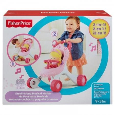 Jucarie bebelusi antepremergator carucior Fisher Price