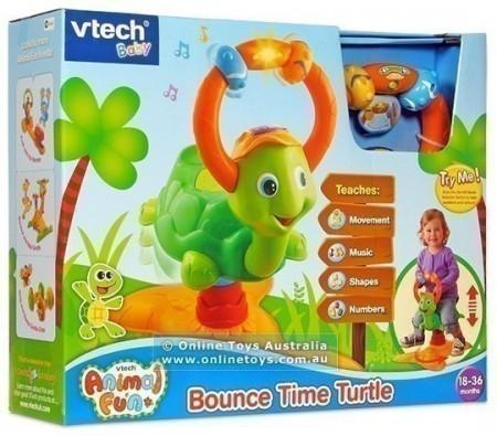 Jucarie bebelusi broscuta balansoar Vtech Bounce Time Turtle