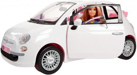 Jucarie fetite papusa Barbie cu masina Fiat