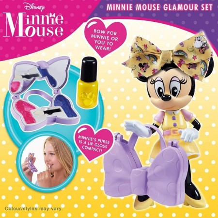 Set de machiaj cu figurina Minnie Mouse in rochita galbena