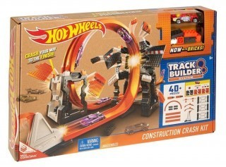 Jucarie baieti Hot wheels Construction Crash Kit