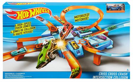 Jucarie baieti Hot Wheels Criss Cross Crash