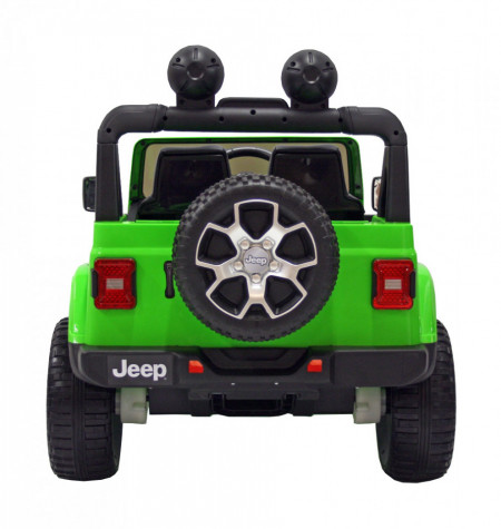 Masinuta electrica 4x4 Premier Jeep Wrangler Rubicon, 12V, roti cauciuc EVA, scaun piele ecologica, verde
