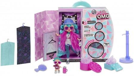 Jucarie papusa LOL Surprise O.M.G. Winter Disco Cosmic Nova Fashion Doll & Sister