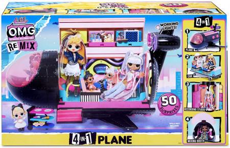 LOL Surprise OMG Remix 4-in-1, set de joaca avion cu 50 de surprize