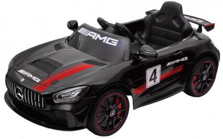 Masinuta electrica Premier Mercedes GT4, 12V, roti cauciuc EVA, scaun piele ecologica, rosu