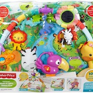 Jucarie bebelusi Centru activitati Rainforest Melodies & Lights Delux Fisher Price